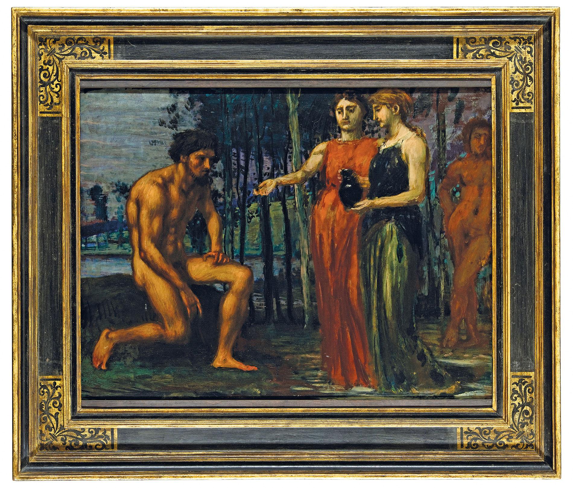 Hans von Marées, Die Labung, 1880, 64×85 cm; Museum Wiesbaden