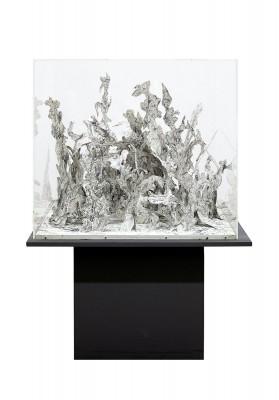 Bernard Schultze, Großer Papier-Migof-Wald, 1972, Bleistift auf weißem Karton, 81 x 92 x 76,5 cm; Leopold-Hoesch-Museum & Papiermuseum Düren