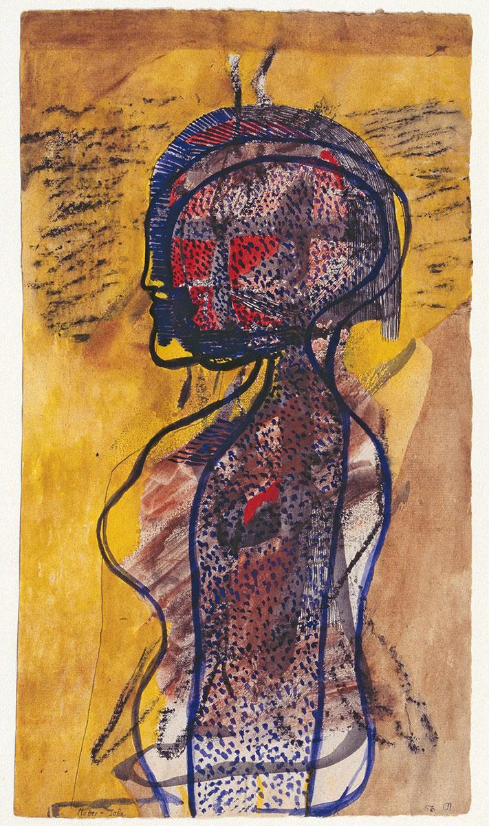 Mutter-Sohn, 1956, 35×19,6 cm; Kupferstichkabinett, Staatliche Museen zu Berlin