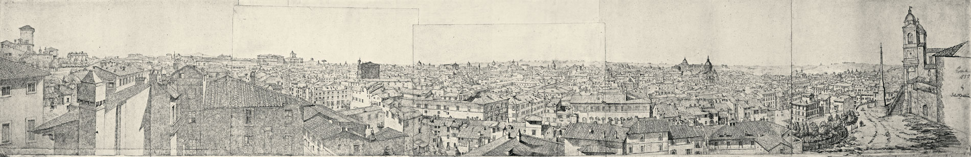 Samuel Bellin, Rompanorama, 1832, 35×230 cm; Rom, Casa di Goethe (Abb. 1)
