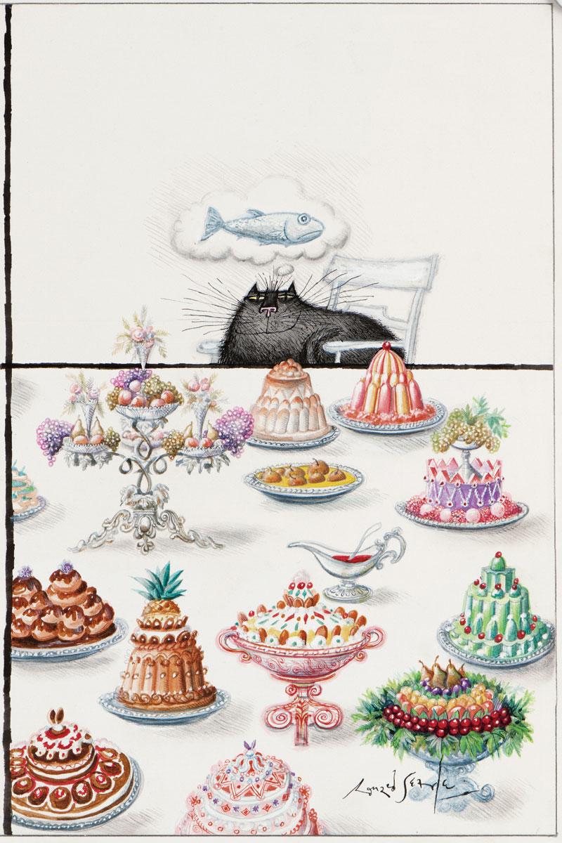 Ronald Searle, Die haben alle etwas gegen mich, 1972 (The New Yorker, 17. Februar 1973, Titel)
