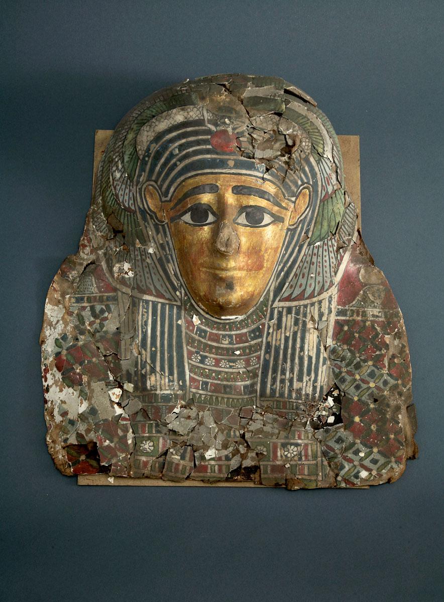 Mumienmaske aus Abusir el-Meleq, ptolemäisch