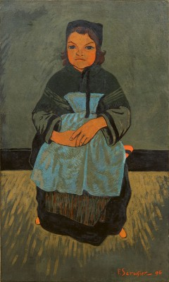Paul Sérusier, Bretonisches Mädchen, Marie Francisaille, 1896, 90×54 cm; Kunsthalle Bremen