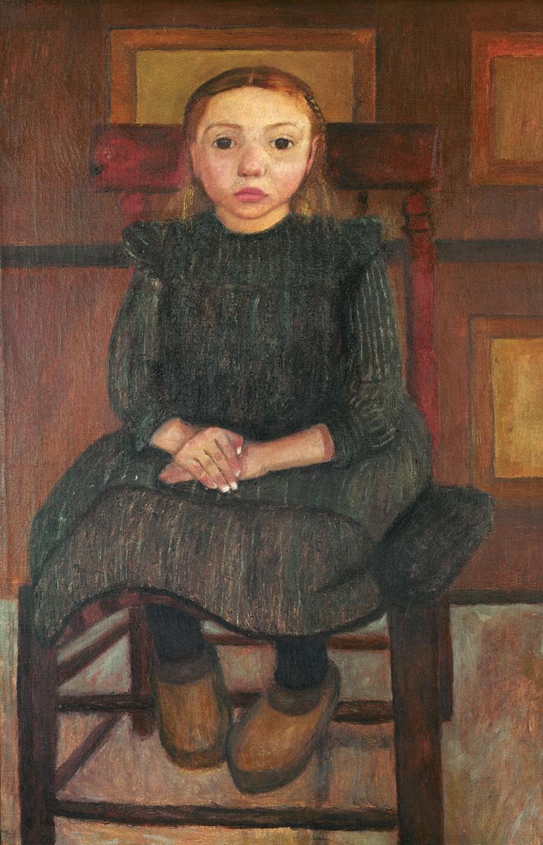 Paula Modersohn-Becker, Worpsweder Bauernkind auf einem Stuhl sitzend, 1905, 90×61 cm; Kunsthalle Bremen