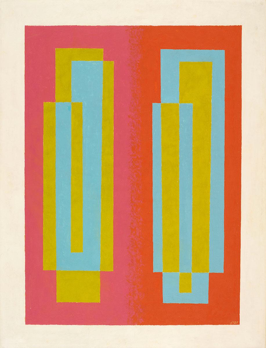 Josef Albers, Oscillating (A), 1940, 91,4×71,1cm;