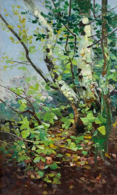 Karl Hagemeister, Sommer, 1908, 211,5×129 cm; Bröhan-Museum, Berlin