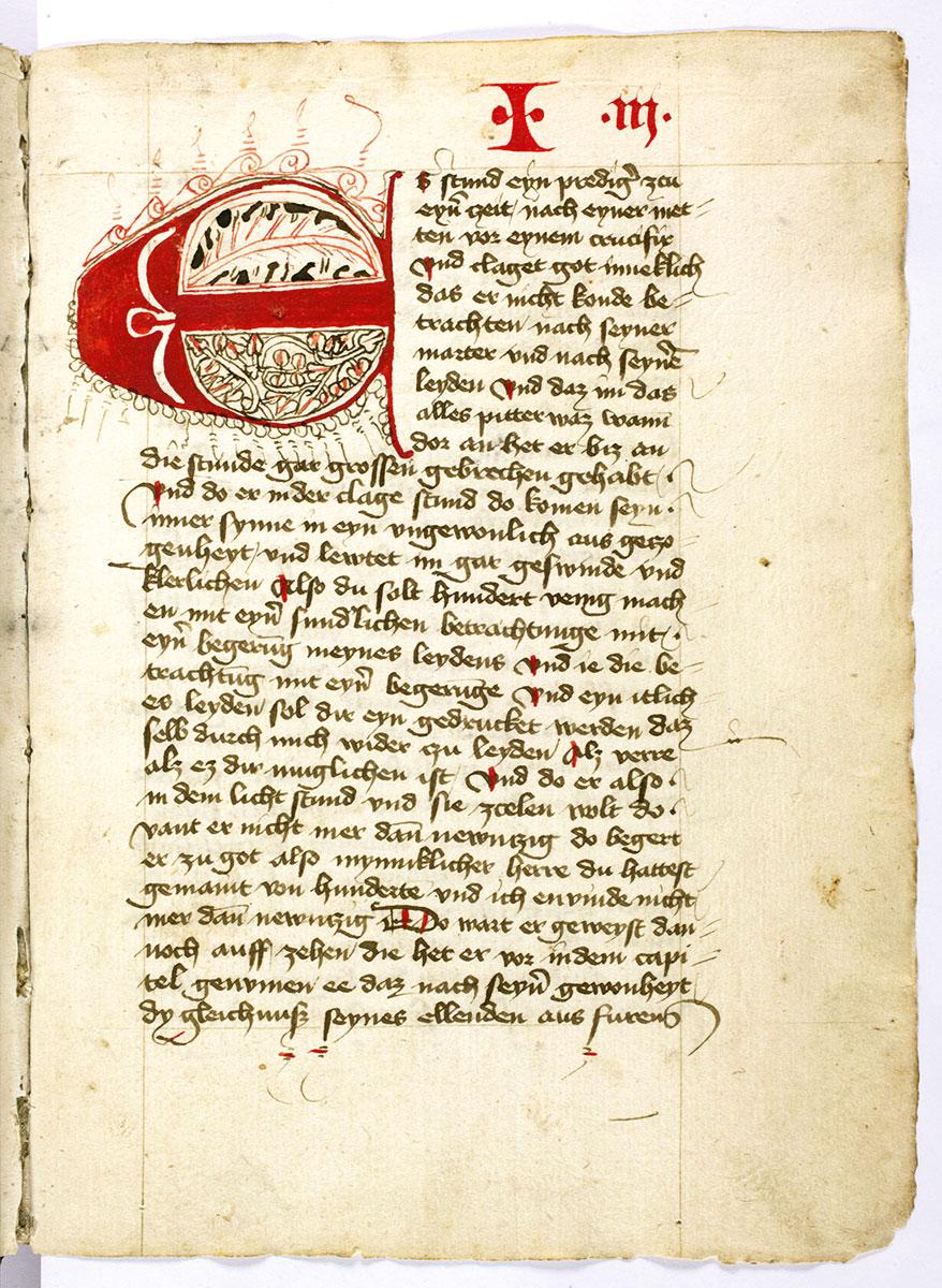 Heinrich Seuse, Büchlein der ewigen Weisheit, 1435, 21×15 cm; Stadtbibliothek im Bildungscampus Nürnberg