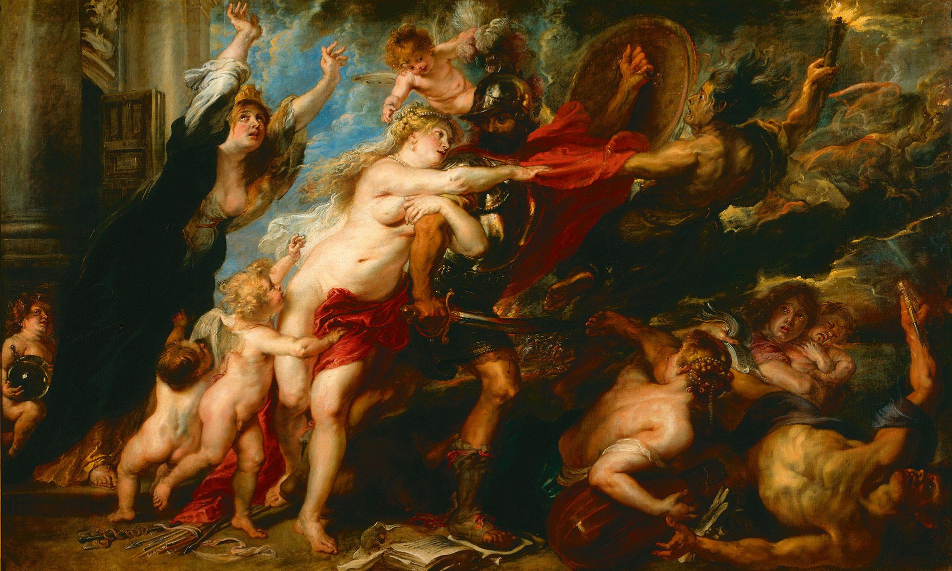 Peter Paul Rubens, Die Folgen des Krieges, 1637/1638 (Ausschnitt); Galleria Palatina, Florenz