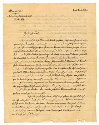 Rainer Maria Rilkes erster Brief an Lou Andreas-Salomé vom 13.5.1897, DLA