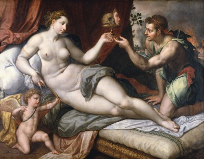 Jacob de Backer, Venus belohnt Paris, um 1590, 145 × 188 cm; Meininger Museen, Schloss Elisabethenburg, Meiningen