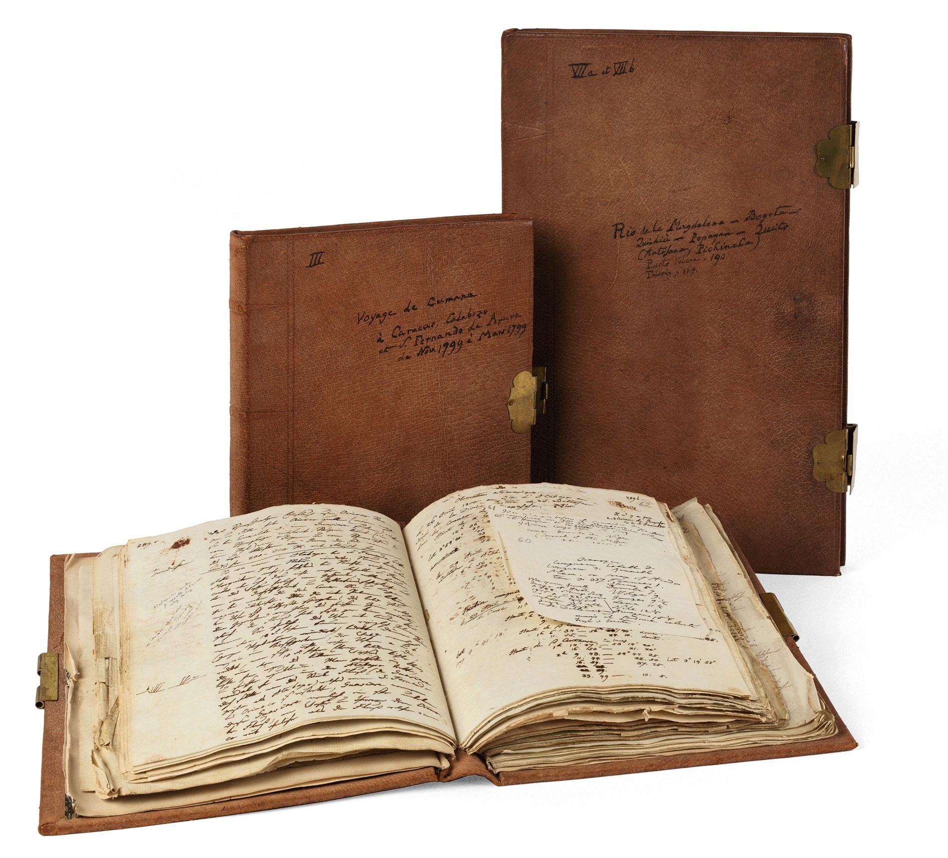 Drei der neun Amerikanischen Reisetagebücher Humboldts