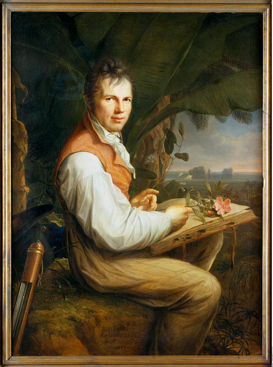 Friedrich Georg Weitsch, Alexander von Humboldt, 1806, 126×92,5 cm, Alte Nationalgalerie, Berlin