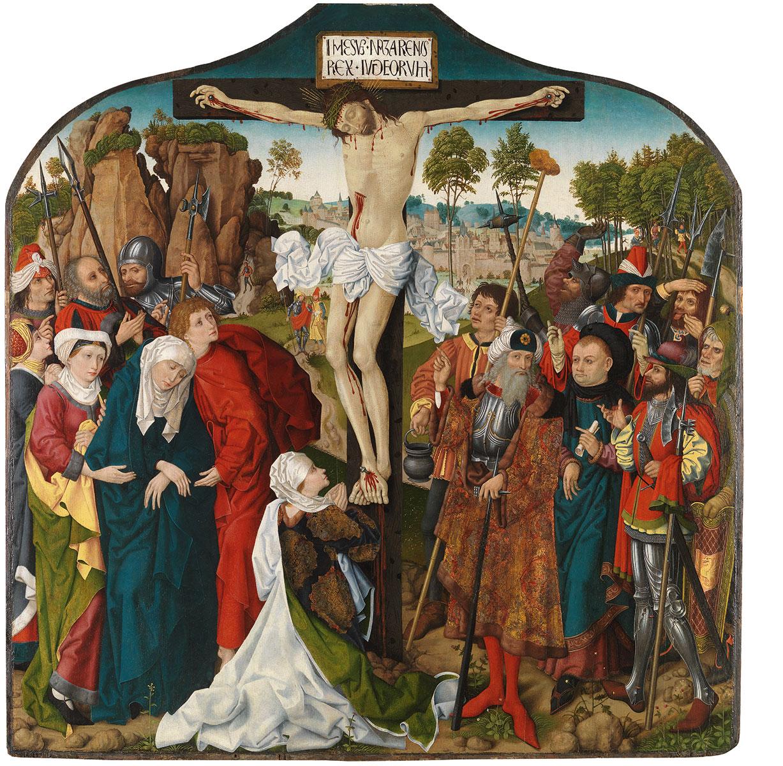 Wolfgang Katzheimer (Umkreis), Kalvarienberg, um 1480/90, 144 x 142,5 cm; Germanisches Nationalmuseum, Nürnberg