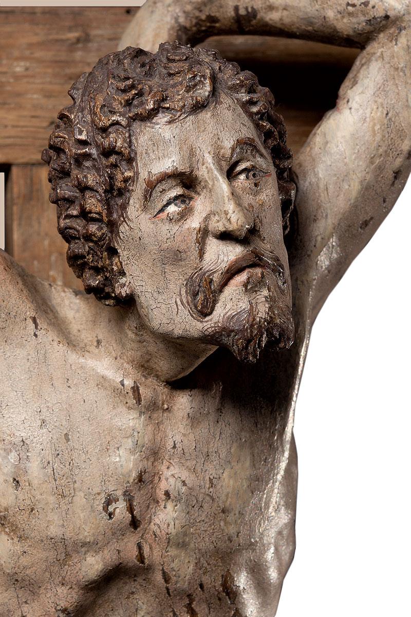 Der Gute Schächer, Detail aus dem Großen Kalvarienberg; Museum Schnütgen, Köln