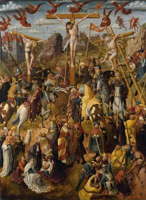 Derick Baegert, Mitteltafel des Altars in der Probsteikirche Dortmund, 1475, 230×395 cm; Probsteikirche Dortmund