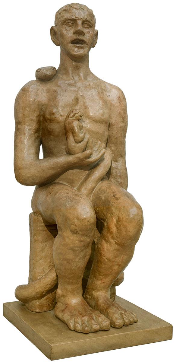 Max Beckmann, Adam und Eva, 1936, 87×35,5×40 cm; Hamburger Kunsthalle