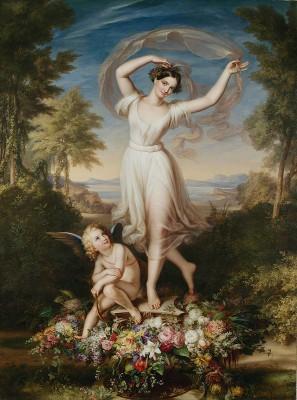 Carl Joseph Begas d. Ä., Amor und Terpsichore (Apotheose der Tänzerin Fanny Elßler), 1832, 208,5×151 cm; Begas Haus, Heinsberg