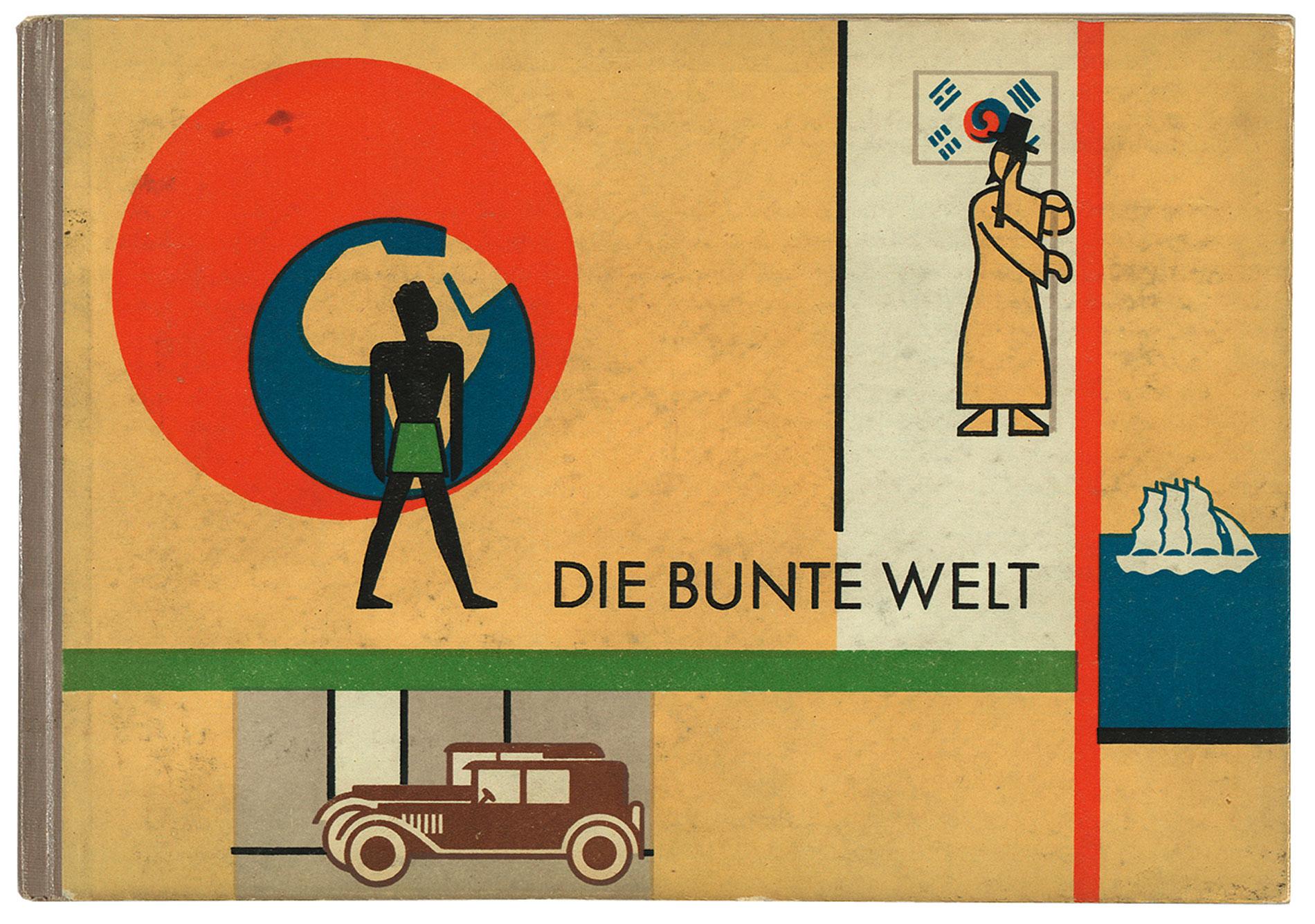 Aus der Sammlung Heller: Die bunte Welt, illustriert von Gerd Arntz, Text von Otto Neurath, Artur Wolf Verlag, Wien 1929