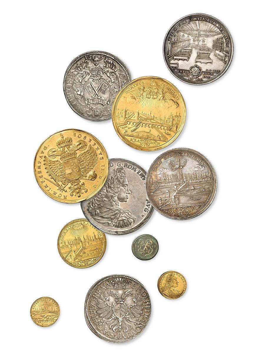 Seltene Münzen Regensburger Prägung des 16. bis 18. Jahrhunderts; Historisches Museum der Stadt Regensburg