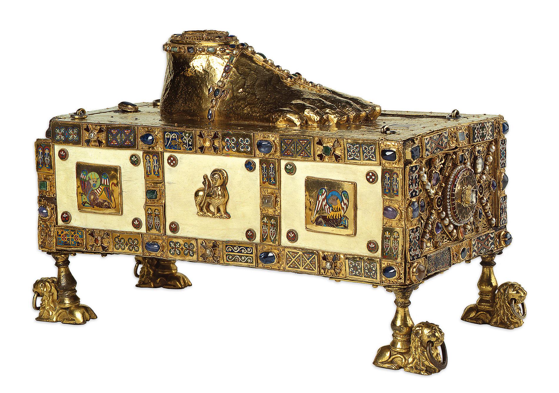 """Andreastragaltar (""""Egbertschrein""""), Egbertwerkstatt Trier, 977/993; Domschatz, Trier"""