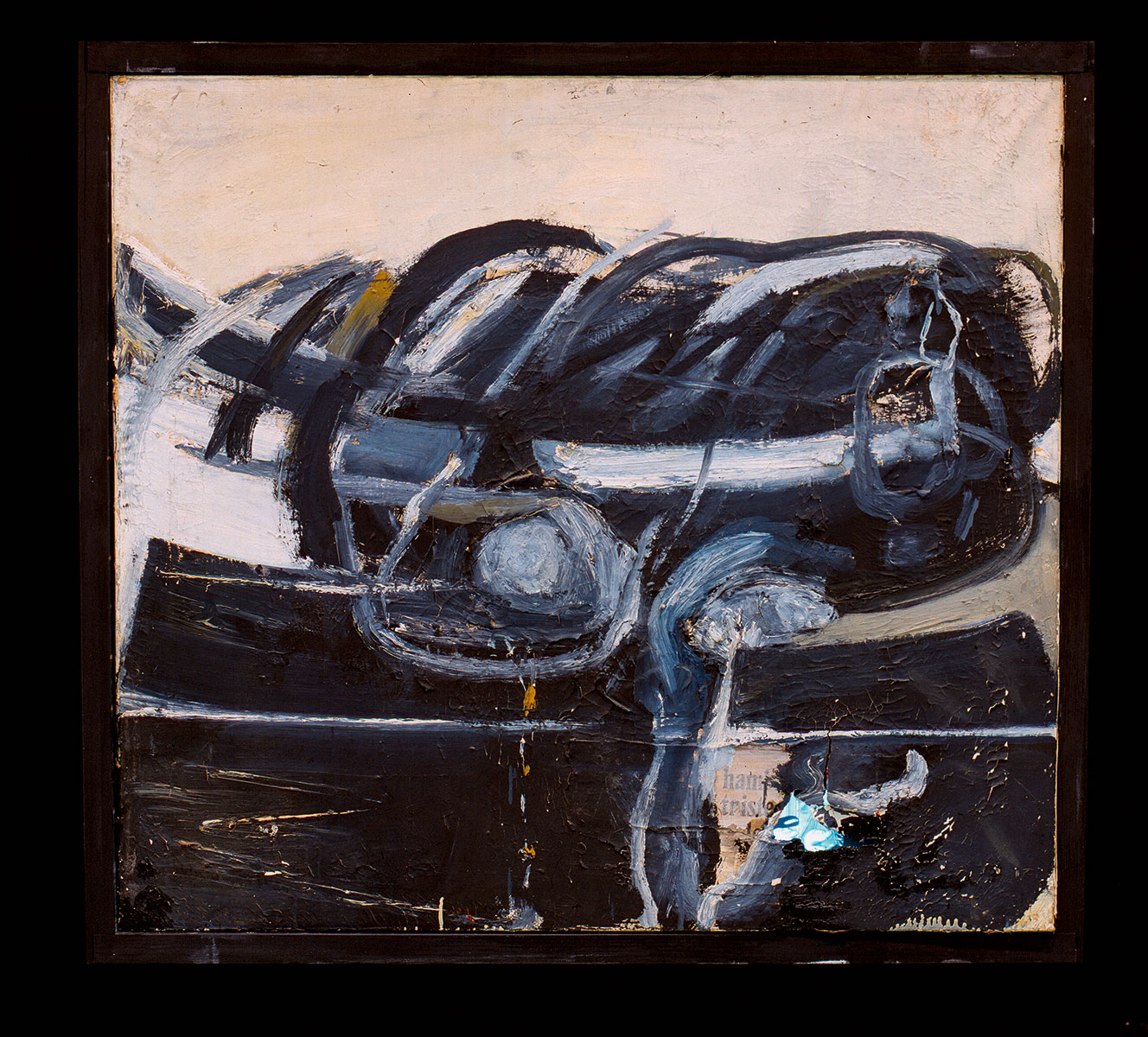 Wolf Vostell, Transmigración II, 1958, 91 × 102 × 40 cm; Zentrum für Kunst und Medientechnologie Karlsruhe