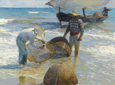 Joaquín Sorolla, Valencianische Fischer, 1895, 65 × 87 cm; Privatbesitz