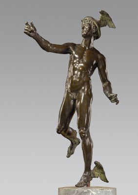 Hubert Gerhard, Schwebender Merkur, um 1590/1600, Höhe 93 cm; Bayerisches Nationalmuseum München (unbefristete Leihgabe der Ernst von Siemens Kunststiftung)