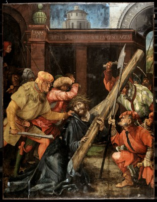 Matthias Grünewald, Tauberbischofsheimer Altar, Kreuztragung Christi, um 1523/25, 196 × 152 cm