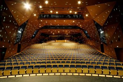 Der Zuschauerraum des Schauspiels Stuttgart bei seiner Wiedereröffnung