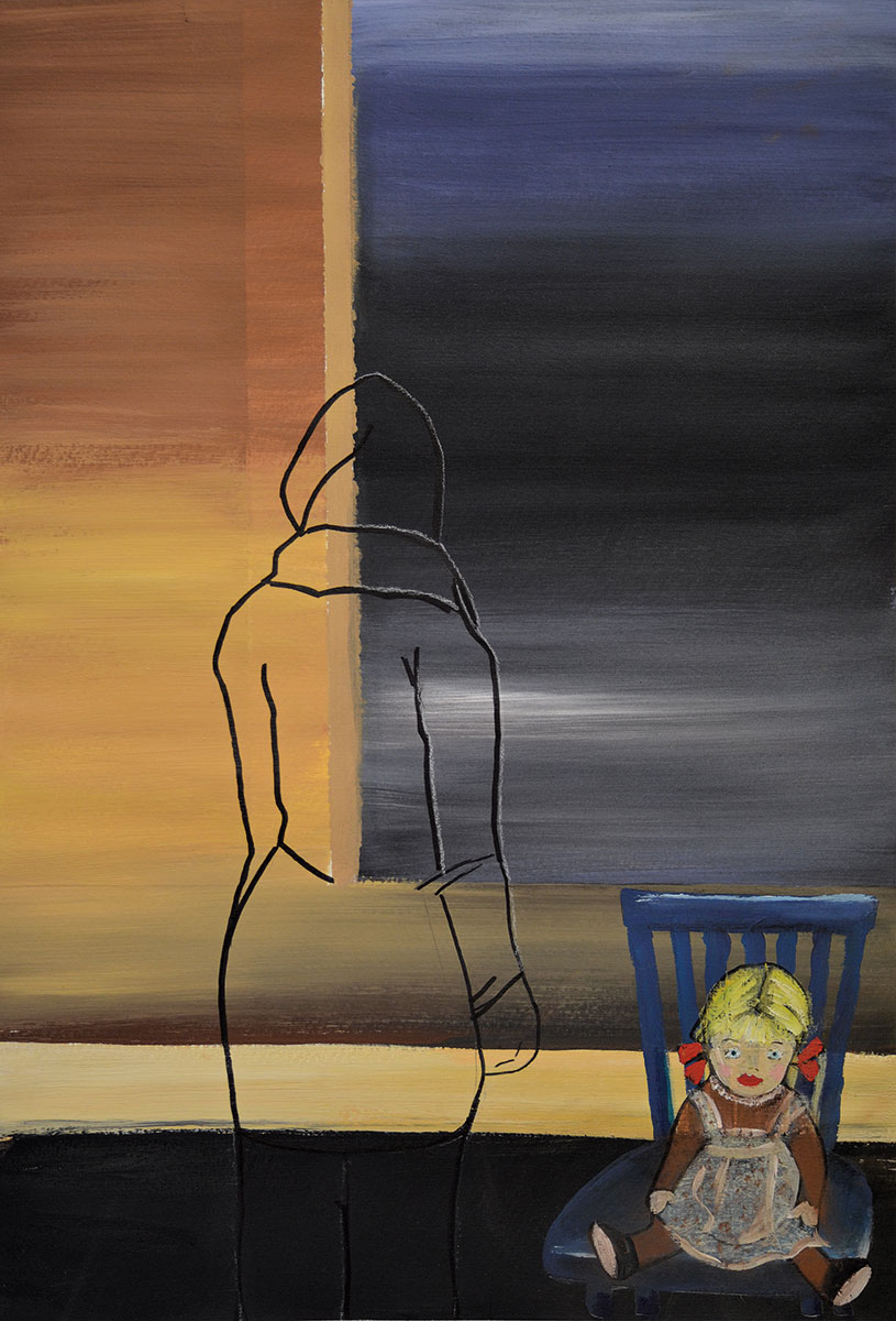 "Semra Yildirim, Illustration zu ihrem Gedicht ""Fremde Welt"", 2012"