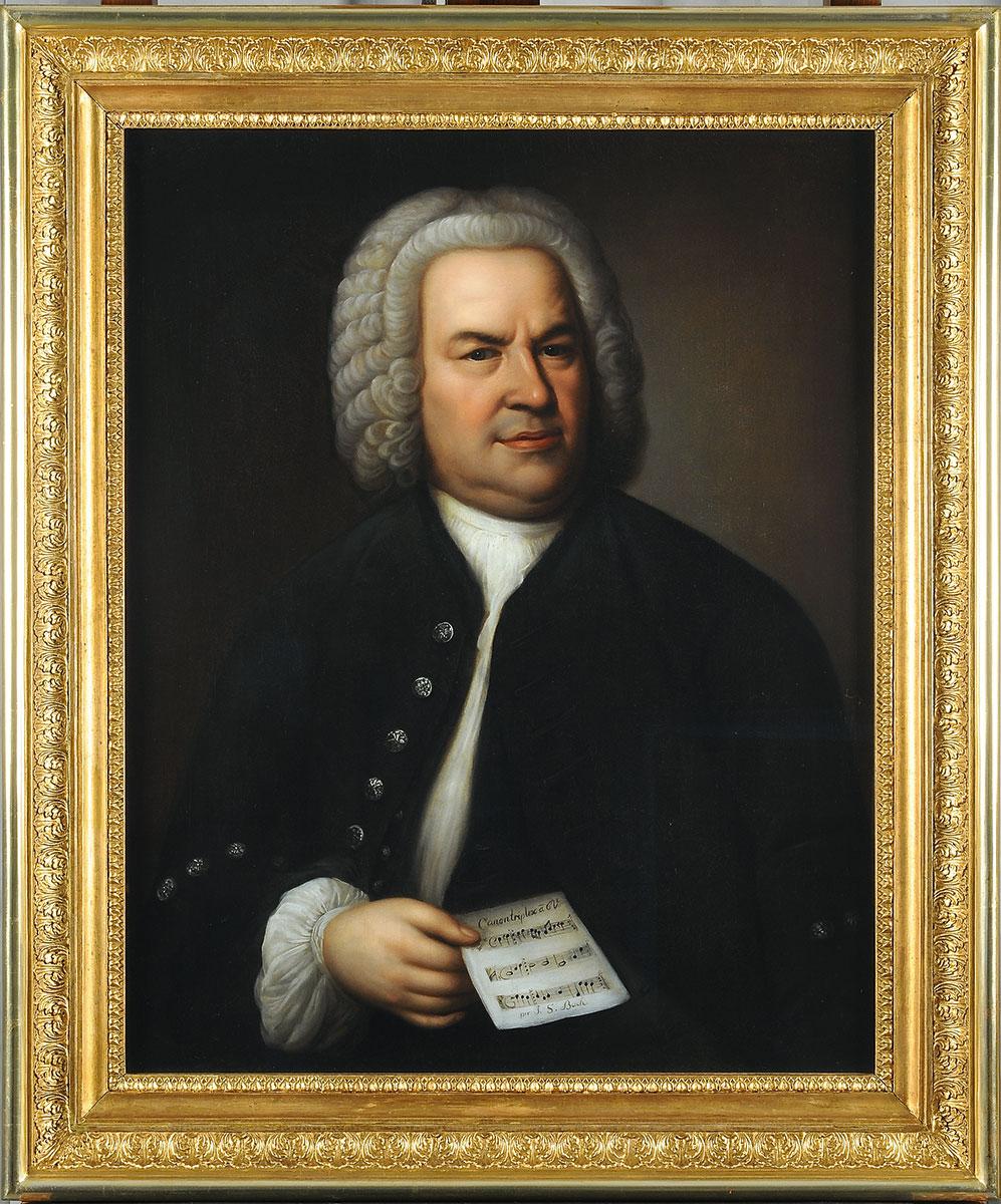 Unbekannter Maler, Porträt Johann Sebastian Bach nach Elias Gottlob Haussmann, vermutlich Mitte des 19. Jahrhunderts, 81,3×64,5 cm; Bach-Archiv Leipzig