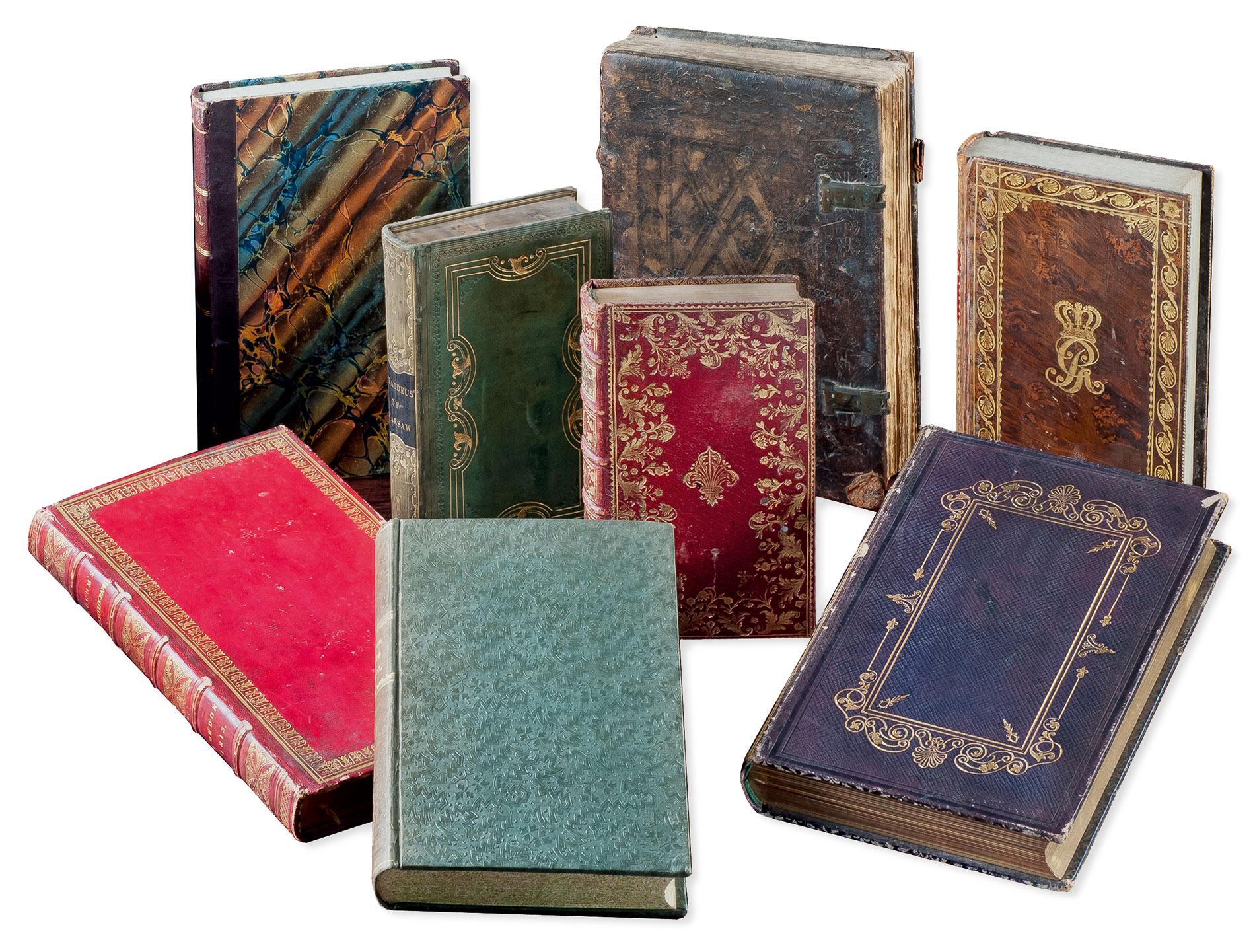 Bände aus der sogenannten Derneburger Bibliothek von Ernst Friedrich Herbert Graf zu Münster und seiner Frau Wilhelmine Charlotte; Gottfried Wilhelm Leibniz Bibliothek, Hannover