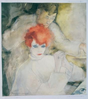 Jeanne Mammen, Die Rothaarige, um 1928, 34,5×30,7 cm; Berlinische Galerie, Berlin