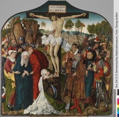 Wolfgang Katzheimer (Umkreis), Kalvarienberg, Nürnberg oder Bamberg, um 1480/90, 144 x 142,5 cm; © Germanisches Nationalmuseum Nürnberg, Foto: Georg Janßen
