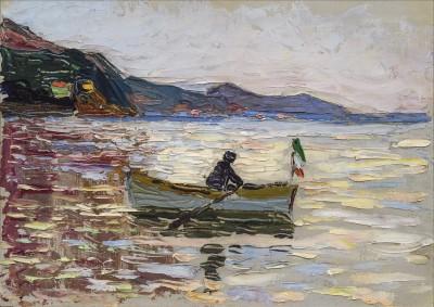 "Wassily Kandinsky, ""Rapallo – Boot im Meer"", 1906"