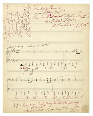 Franz Liszt, Feierlicher Marsch zum heiligen Gral, erste Seite, Autograph; Staatsbibliothek zu Berlin (© Schott Music GmbH & Co. KG)
