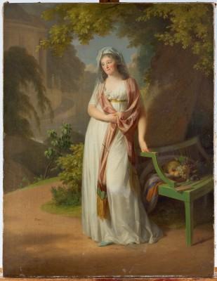 Johann Friedrich August Tischbein, Bildnis der Louise von Anhalt, 1797