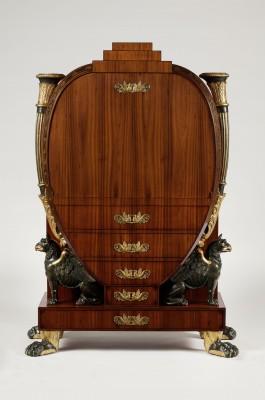 Lyra-Sekretär, um 1810 Museum für Angewandte Kunst Köln