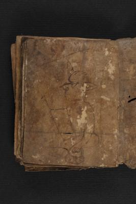 Märenhandschrift, 13. Jahrhundert, Staatsbibliothek zu Berlin Letzte Seite mit Federzeichnung eines Teufels