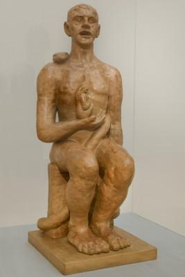 Max Beckmann, Adam und Eva, 1936, Gips, 87 x 35,5 x 40 cm © VG Bild-Kunst, 2014; Hamburger Kunsthalle, Foto: Kay Riechers