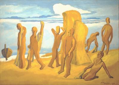Max Pechstein, Am Strand, 1954, 80 x 110 cm © 2011 Pechstein - Hamburg/Tökendorf/Foto: Alexander Pechstein