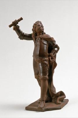 Statuette eines Feldherrn aus Böttgersteinzeug, um 1712