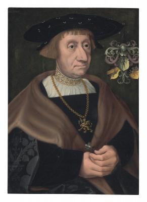 Jacob Claesz. van Utrecht, Porträt von Mathias Mulich, um 1520, 42,4 x 29,6 cm, St. Annen-Museum Lübeck