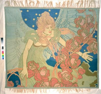 """Jugendstilteppich """"Schutzengel"""" (um 1901) von Hans Christiansen"""