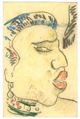 Max Pechstein, Postkarte vom 28.2. 1909 aus Berlin an Alexander Gerbig, Dresden; Kunstsammlungen Zwickau © 2014: Pechstein - Hamburg/Tökendorf