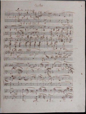"Autograph von Robert Schumann: Ouvertüre der Oper ""Genoveva"" op.81, Klavierauszug, © Musikbibliothek Peters, Leipzig"