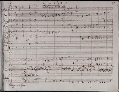 Autograph von Felix Mendelssohn Bartholdy: Die erste Walpurgisnacht, op.61, Partitur, © Musikbibliothek Peters, Leipzig