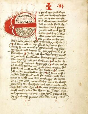 Heinrich Seuse, Büchlein der ewigen Weisheit, 1435, 21 x 15 cm, Stadtbibliothek im Bildungscampus Nürnberg © Stadtbibliothek Nürnberg