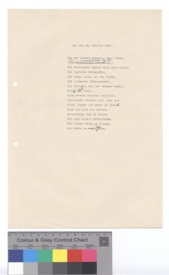 Eva Strittmatter: Was von mir bleiben wird, Typoskript-Fassung mit eigenhändigen Korrekturen, ohne Datum © Foto AdK, Eva-Strittmatter-Archiv