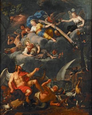 Allegorie der Luft, Johann Heiss, 1690, 114 x 91 cm; © Stadtmuseum Memmingen, Heribert Thanner
